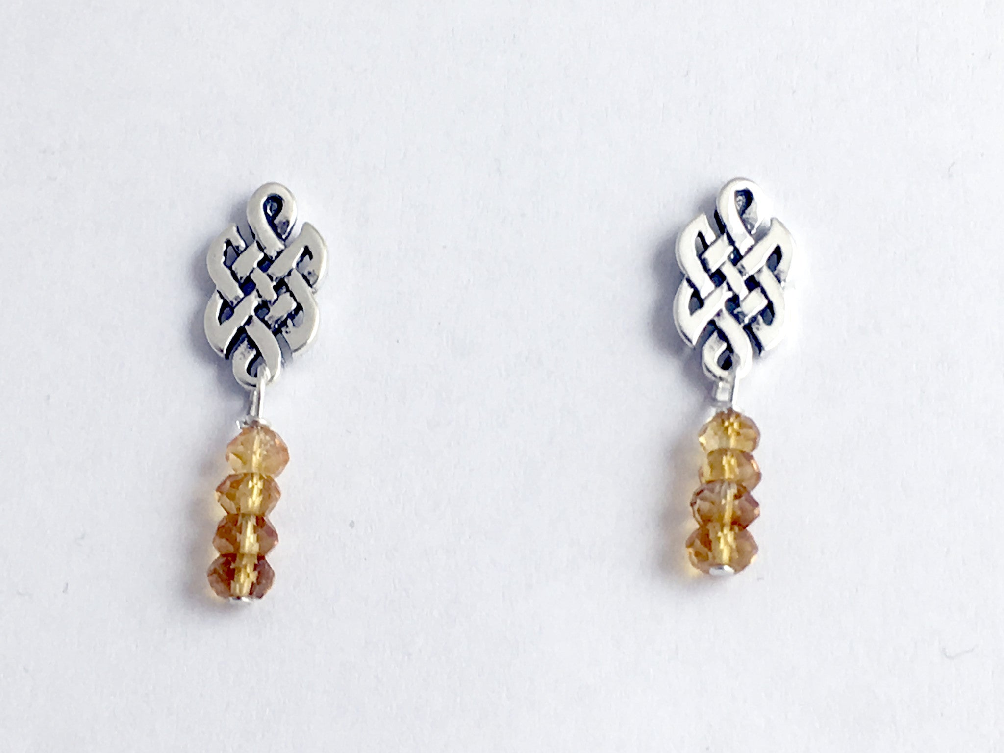 in eternity celtic products small gold drop jewelry knot native by liwu earrings