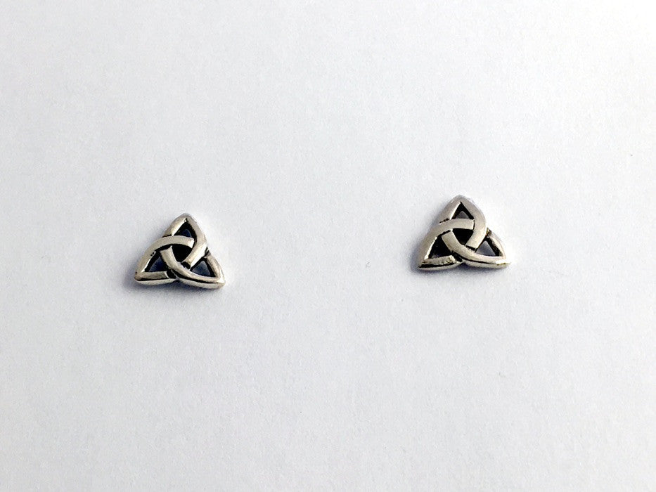 Sterling Silver Celtic Trinity Knot stud earrings- triquetra, knots, studs,