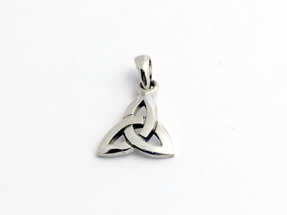 Sterling Silver  Celtic Trinity Knot pendant with bail, Triquetra, Knots,