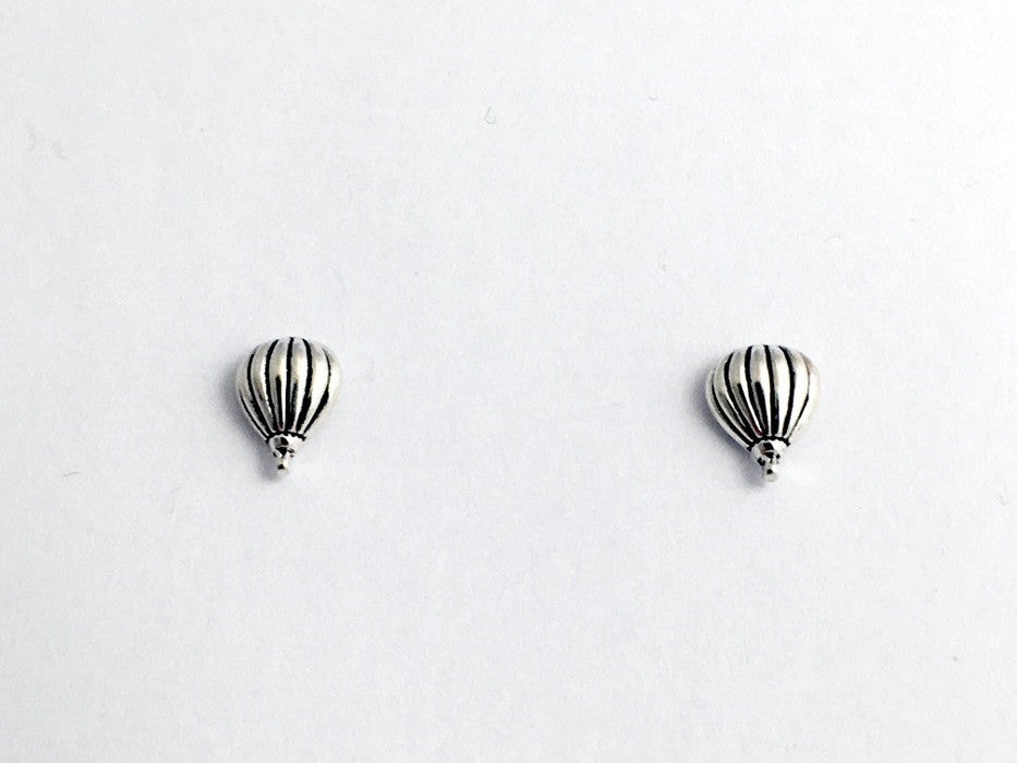 Sterling Silver and Surgical Steel Small Hot Air Balloon stud earrings- Balloons