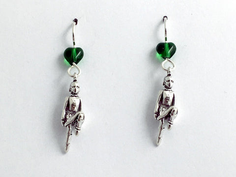 Sterling Silver Irish Dancer dangle earrings-Feis, Feisanna, Celtic, Step, Dance