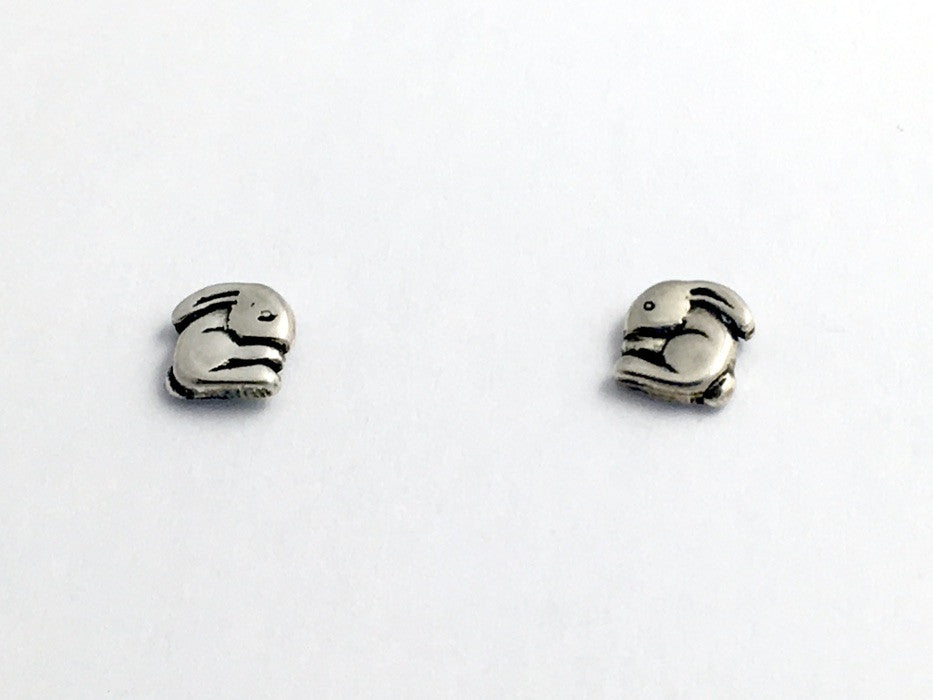 Sterling Silver and Surgical Steel Bunny Rabbit stud earrings- Rabbits, bunnies