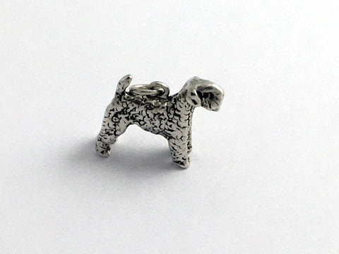 Sterling Silver 3-D Giant Schnauzer dog charm or pendant- Schnauzers,canine,dogs