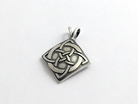 Sterling Silver Celtic Knot Cross with Circle pendant ,  1 inch long