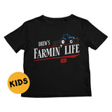 Drew's Farmin' Life Kids T-Shirt
