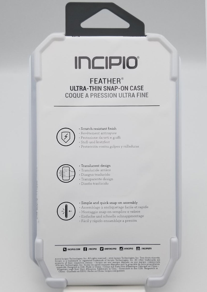 Incipio Feather Ultra-Thin Snap-On Case for iPhone 6P/6SP - Clear