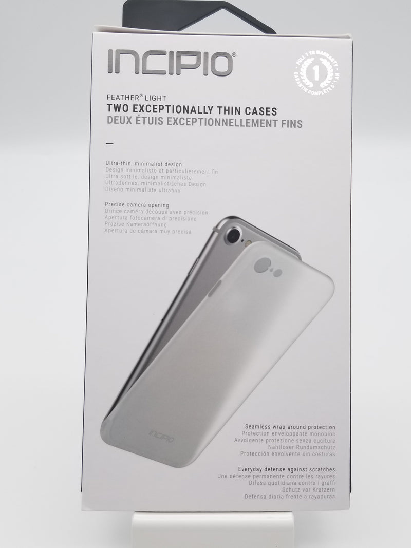 Incipio Feather Light Thin Cases (2 Cases) 7/8/SE Case - Clear and Grey