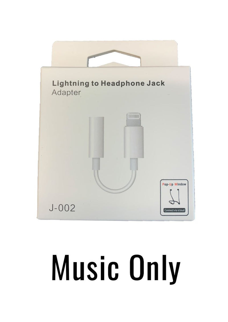 Lightning to 3.5mm Adapter for iPhone (Music Only)