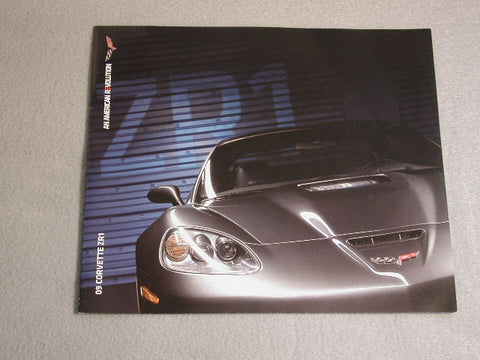 2009 GM-NOS Dealer Mini Brochure ZR1 Limited Quantity / Product Number: B142