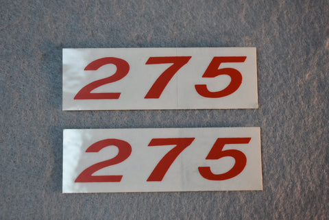 C1 Corvette 275 HP Valve Cover Decal Original Red PR / Product Number: D110