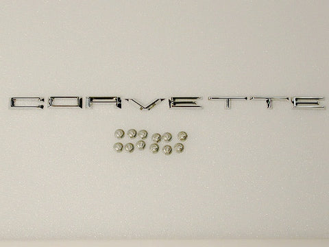 Front Corvette Letters Set GM-Restoration 61-62 / Product Number: EM102