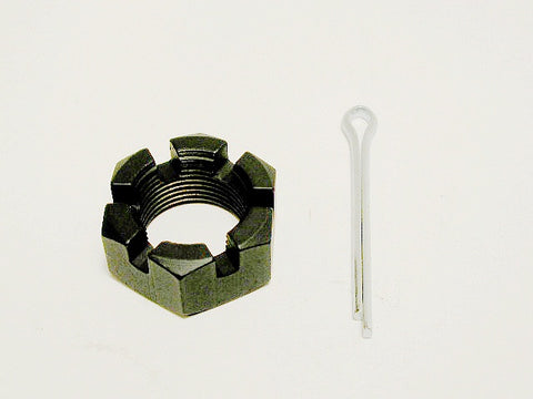 Rear Wheel Spindle Nut with Cotter Pin 3/4-20 63-82 / Product Number: RS207