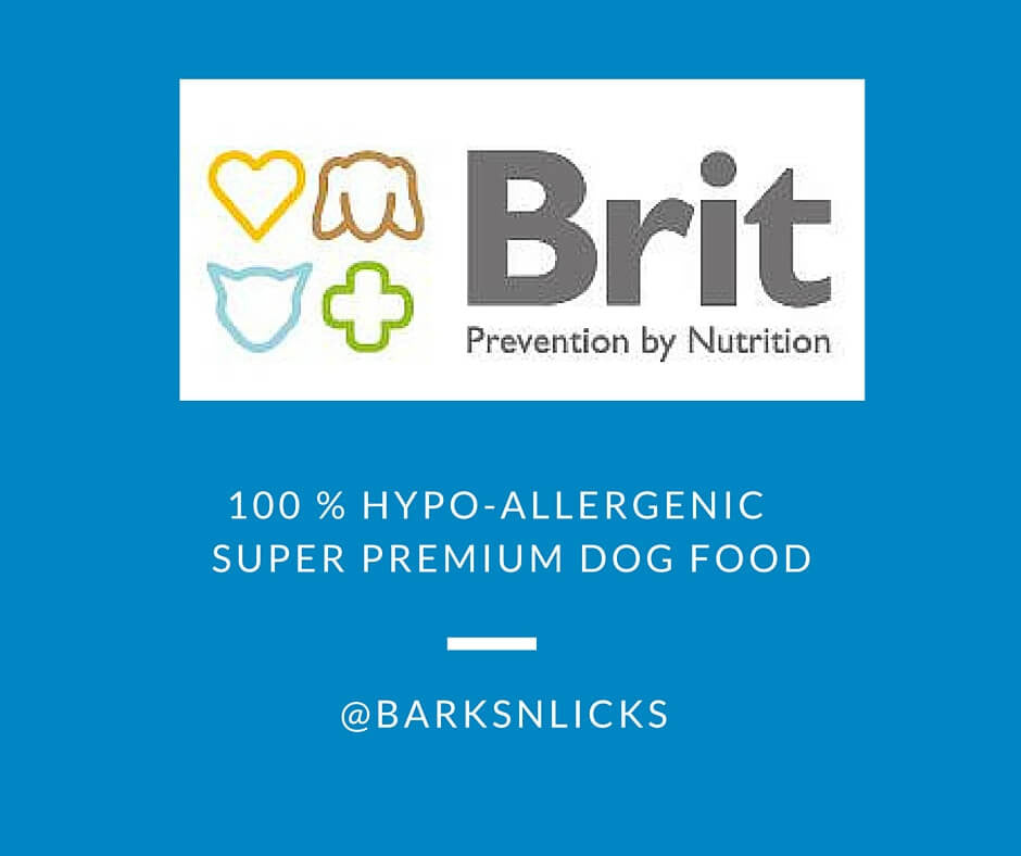 100% Hypoallergenic Brit-Care dog food available in India