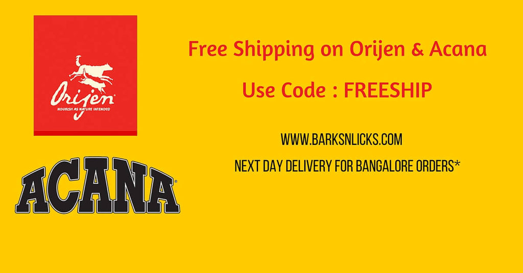 Free Shipping On Orijen & Acana on BarksnLicks