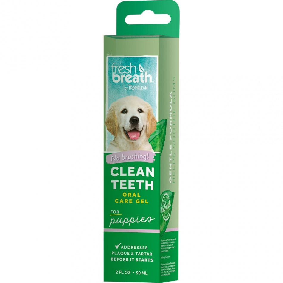 Tropiclean FRESH BREATH PUPPY CLEAN TEETH GEL - Barks and Licks