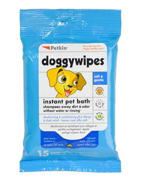 Petkin Doggy Wipes (15ct) - Barks and Licks