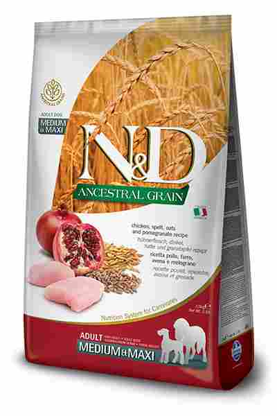 N&D Chicken & Pomegranate Adult Medium & Maxi Low Grain