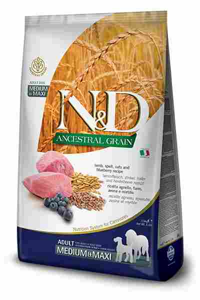 N&D Lamb & Blueberry Adult Medium & Maxi Kibble