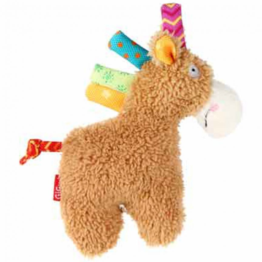 GiGwi Plush Friendz Horse (with Squeaker) - Barks and Licks