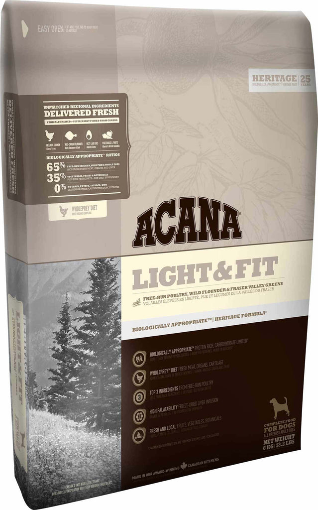 ACANA Light & Fit Dog Food - Barks and Licks