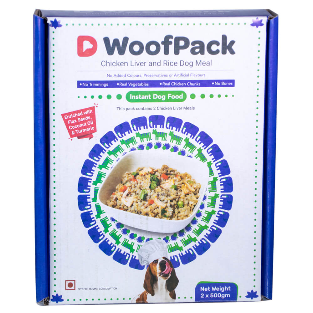 D WoofPack Chicken Liver and Brown Rice Dog Meal