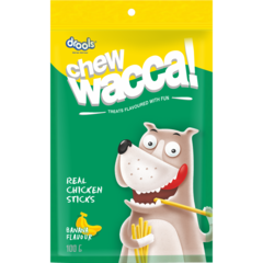 CHEWWACCA Real Chicken Sticks Banana Flavour - Barks and Licks
