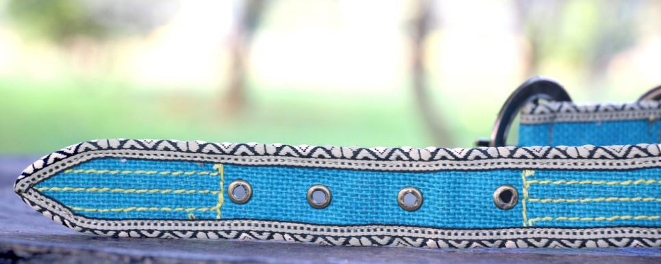 POKO Jute Collar Blue Color - barksnlicks  - 4