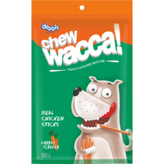 CHEWWACCA Real Chicken Sticks Carrot Flavour - Barks and Licks