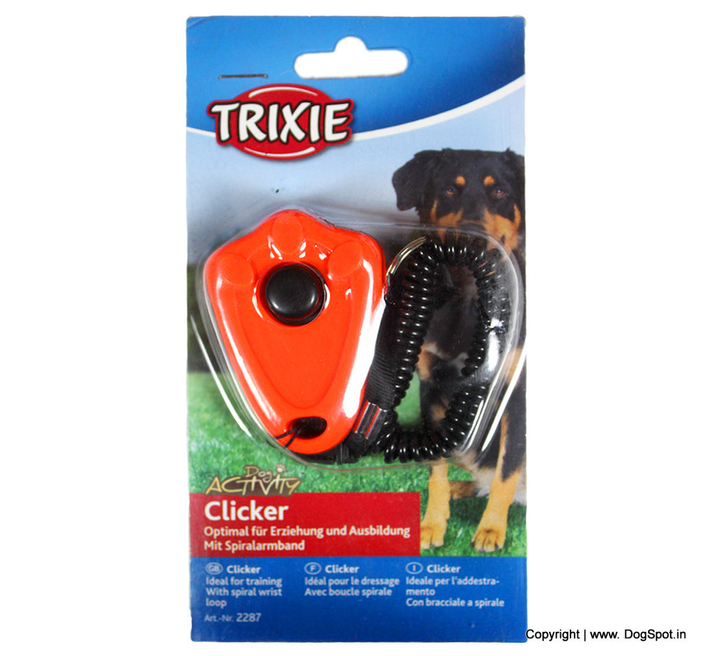 Trixie Clicker With Spiral Wrist Loop - Barks and Licks