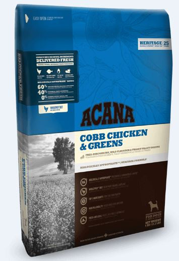 ACANA Cobb Chicken & Greens Dog Food - barksnlicks  - 1