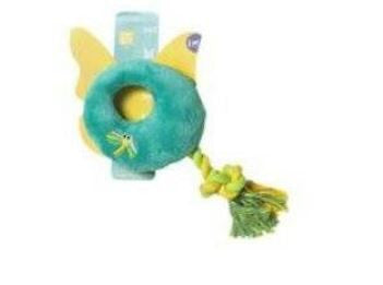 Dragonfly Rope Ring Plush Toy - barksnlicks