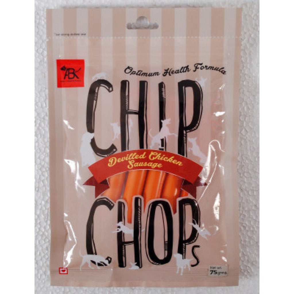 Chip Chops Devilled Chicken Sausage Dog Treats - Barks and Licks