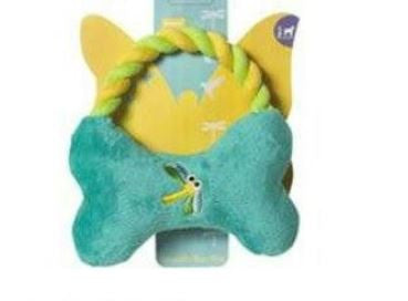 Dragonfly Bone Tug Plush Toy - Barks and Licks