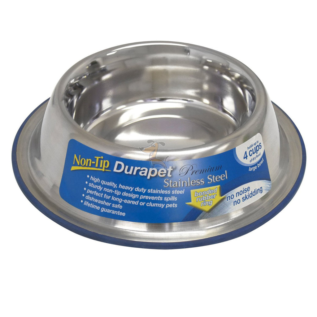 DURAPET NON TIP DOG BOWL - Barks and Licks