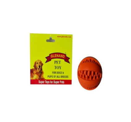Glenand Rubber Dental Chew Ball - barksnlicks