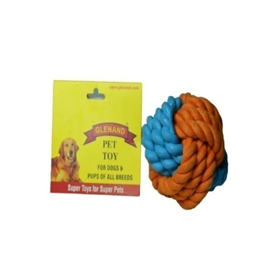 Glenand Rubber Rope Ball - barksnlicks