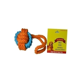 Glenand Rubber Rope Ball Tug - barksnlicks