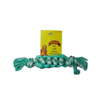 Glenand Rubber Rope Bone - barksnlicks