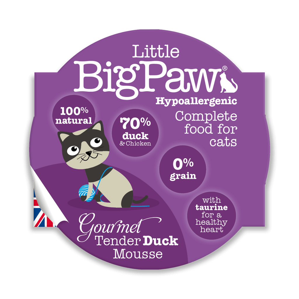 Little BigPaw Gourmet Tender Duck Mousse Cat Food - Barks and Licks
