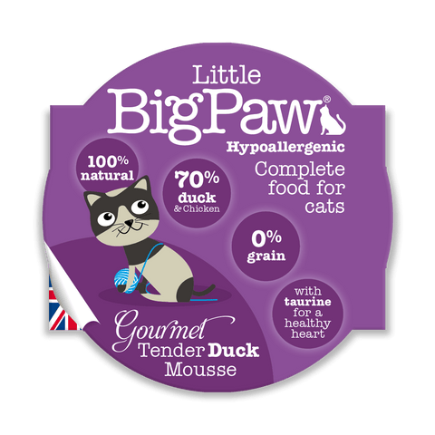 Little BigPaw Gourmet Tender Duck Mousse Cat Food