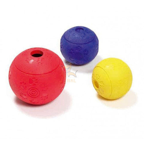 KARLIE BOOMER RUBBER TREAT BALL - barksnlicks