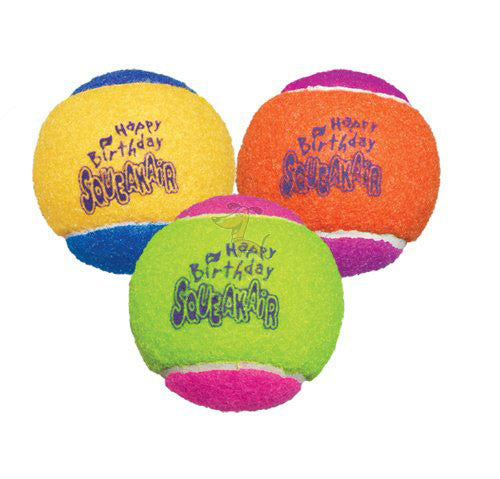 KONG BIRTHDAY AIR SQUEAKER BALLS - Barks and Licks