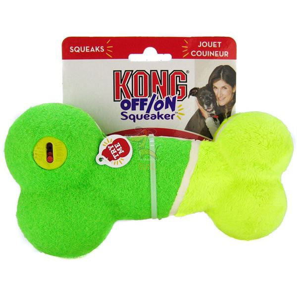 KONG OFF/ON SQUEAKER BONE - Barks and Licks