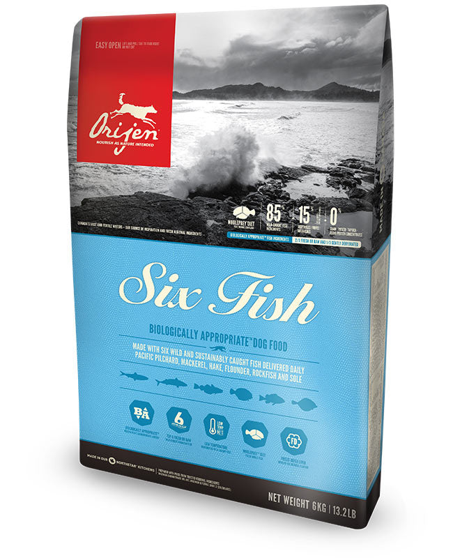 Orijen Six Fish Dog Food - New Formula - Barks and Licks