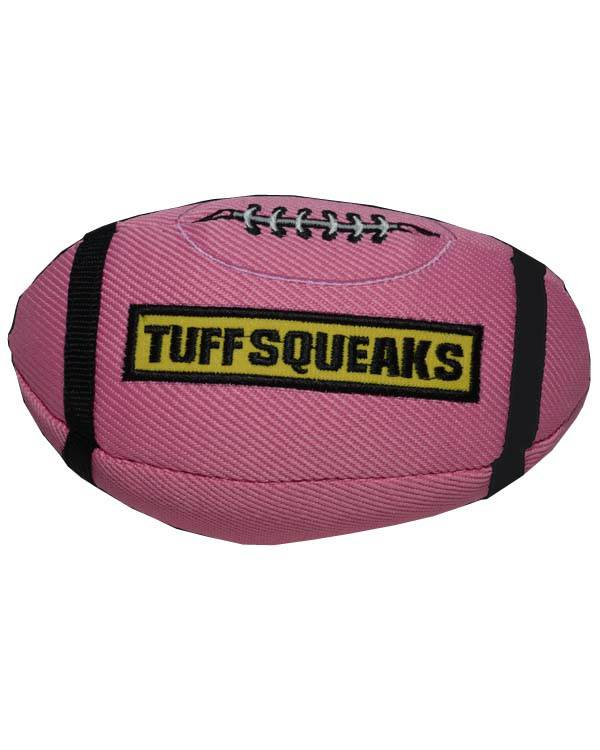 Petsport TUFF SQUEAK FOOTBALL Dog Toy - Barks and Licks