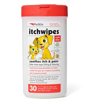 Petkin Itchwipes - Barks and Licks