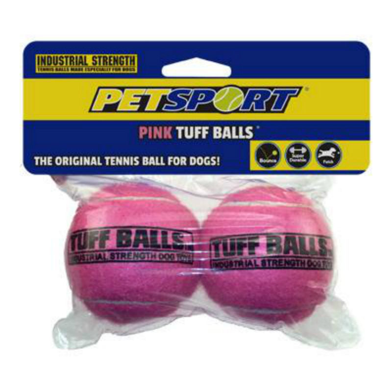 Petsport Tuff Pink Balls Dog Toy, 2 Ball Pack - Barks and Licks