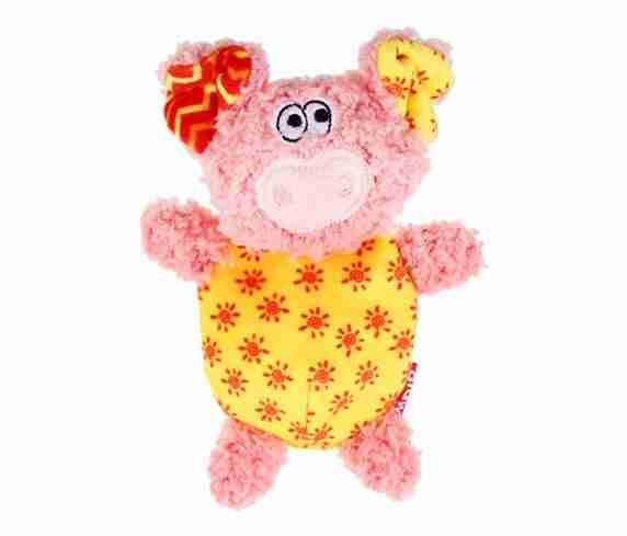 GiGwi Plush Friendz Pig (with REFILLABLE Squeaker)