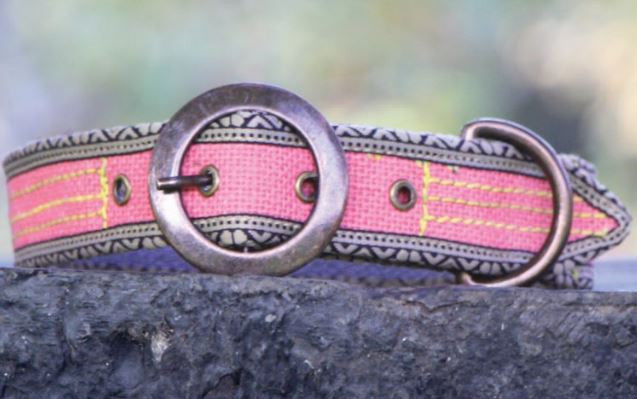 POKO Jute Collar Pink Color - barksnlicks  - 1