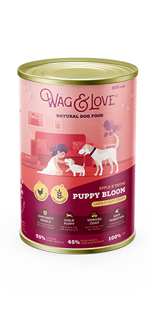 Wag and Love PUPPY BLOOM LARGE & GIANT BREEDS - CHICKEN, APPLE & THYME - Barks and Licks